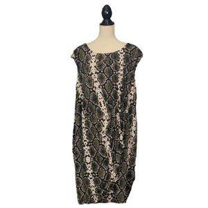 Calvin Klein Animal Print Sheath Dress Plus 22W